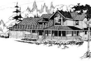 Architectural House Design - Farmhouse Exterior - Front Elevation Plan #124-125