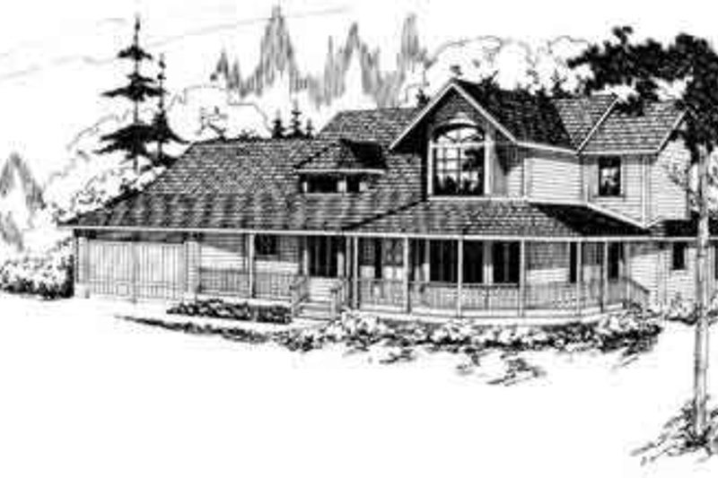 Farmhouse Exterior - Front Elevation Plan #124-125