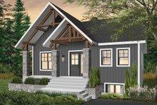 Modern Exterior - Front Elevation Plan #23-2677