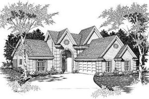 European Exterior - Front Elevation Plan #329-290