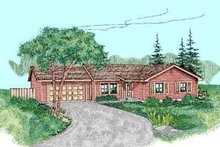 Ranch Exterior - Front Elevation Plan #60-467