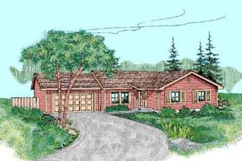Ranch Exterior - Front Elevation Plan #60-467 - Houseplans.com