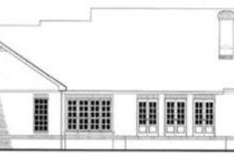 Southern Exterior - Rear Elevation Plan #406-196 - Houseplans.com