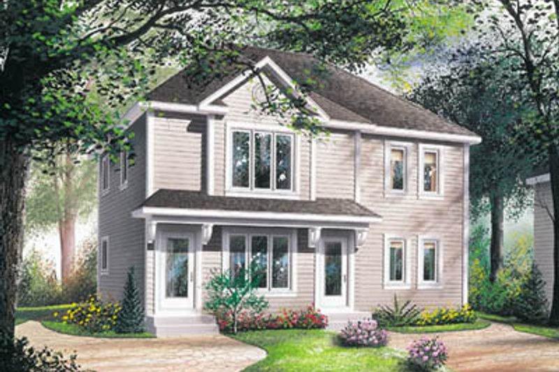 Home Plan - Modern Exterior - Front Elevation Plan #23-2077