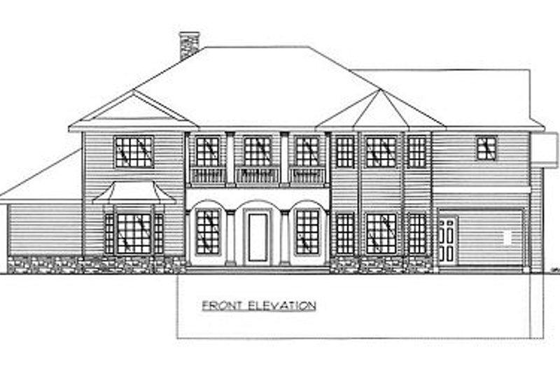 European Exterior - Other Elevation Plan #117-537 - Houseplans.com