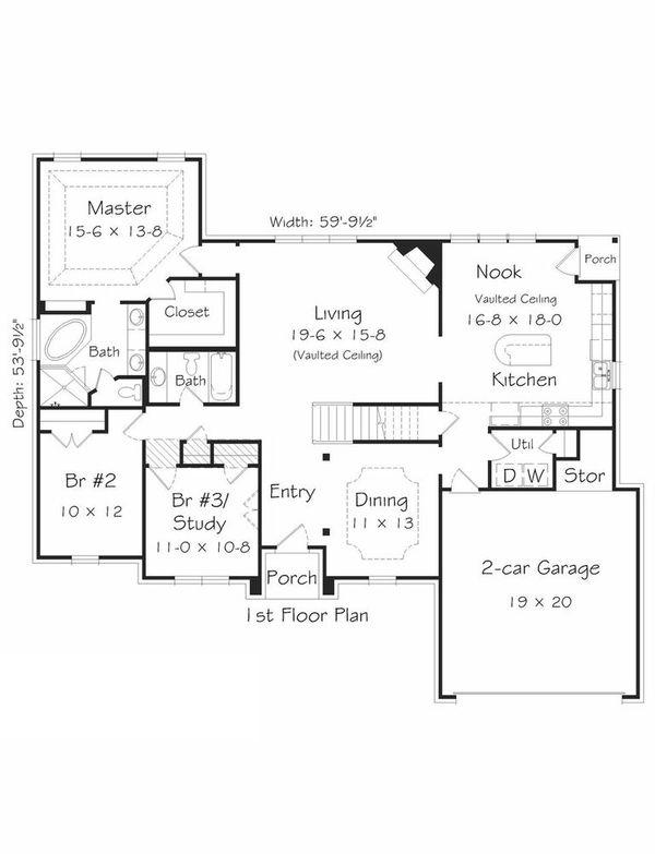 Floor Plan - Main Floor Plan Plan #329-331