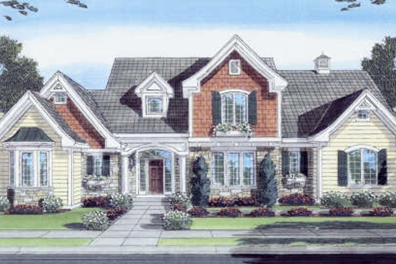 Traditional Style House Plan - 3 Beds 2.5 Baths 2258 Sq/Ft Plan #46-427 Exterior - Front Elevation