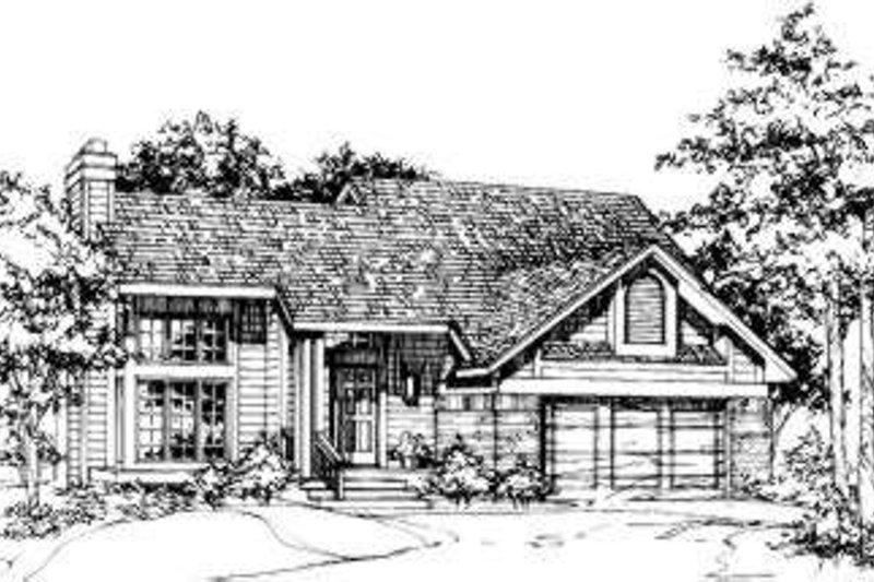Exterior - Front Elevation Plan #320-128