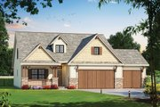 Craftsman Style House Plan - 4 Beds 3.5 Baths 2116 Sq/Ft Plan #20-2317 Exterior - Front Elevation