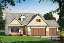 Craftsman Exterior - Front Elevation Plan #20-2317