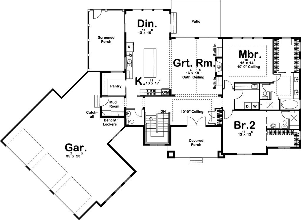Craftsman Style House Plan