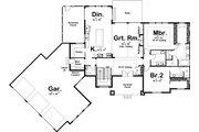 Craftsman Style House Plan - 2 Beds 2.5 Baths 2172 Sq/Ft Plan #455-212 Floor Plan - Main Floor Plan
