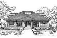 Modern Exterior - Front Elevation Plan #72-140