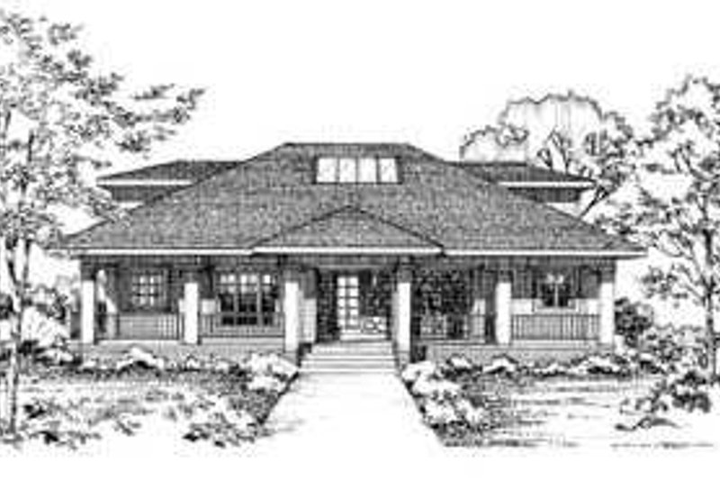 Modern Style House Plan - 3 Beds 2.5 Baths 2208 Sq/Ft Plan #72-140 Exterior - Front Elevation