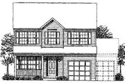 Colonial Style House Plan - 4 Beds 2.5 Baths 1790 Sq/Ft Plan #320-304 Exterior - Front Elevation