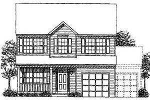 Colonial Exterior - Front Elevation Plan #320-304