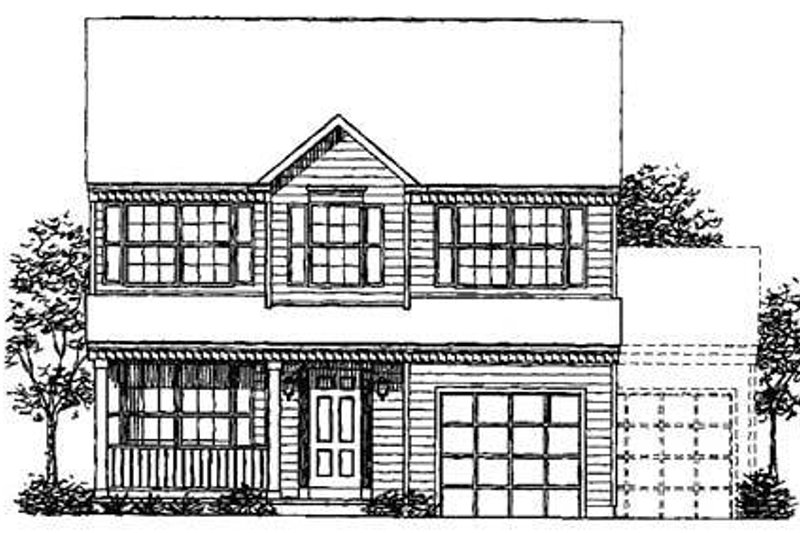 Colonial Exterior - Front Elevation Plan #320-304 - Houseplans.com