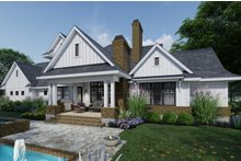 Architectural House Design - Farmhouse Exterior - Rear Elevation Plan #120-266