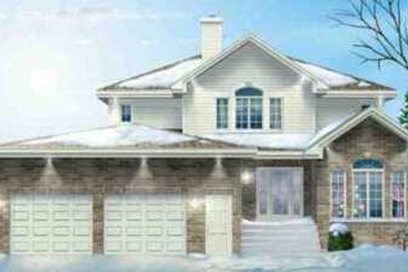 Traditional Style House Plan - 4 Beds 2.5 Baths 2868 Sq/Ft Plan #25-2222 Exterior - Front Elevation