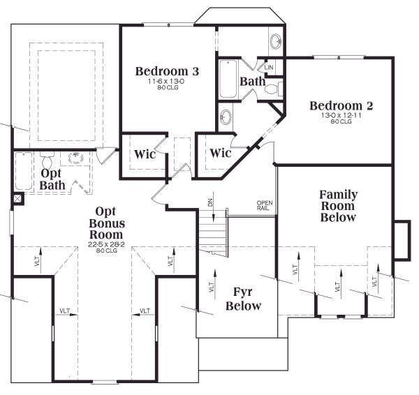 Home Plan - Craftsman Floor Plan - Upper Floor Plan #419-158
