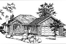 House Blueprint - Traditional Exterior - Front Elevation Plan #18-183