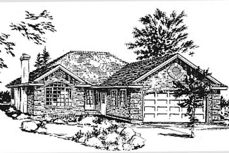 Traditional Exterior - Front Elevation Plan #18-183