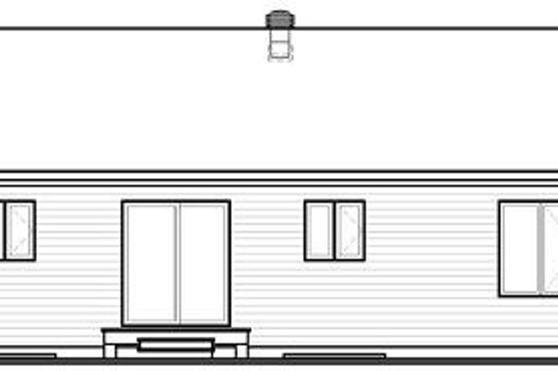 Ranch Exterior - Rear Elevation Plan #23-779 - Houseplans.com