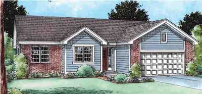 Ranch Exterior - Front Elevation Plan #20-1523