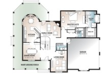Traditional Floor Plan - Main Floor Plan Plan #23-603