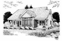 Dream House Plan - Farmhouse Exterior - Rear Elevation Plan #20-181