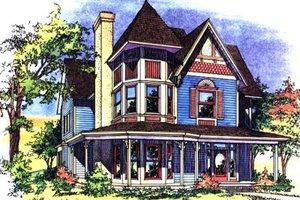 Victorian Exterior - Front Elevation Plan #43-105