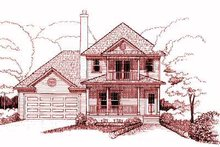 Southern Exterior - Front Elevation Plan #79-228