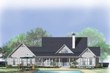 Country Exterior - Rear Elevation Plan #929-357