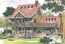 Home Plan - Traditional Exterior - Front Elevation Plan #124-207