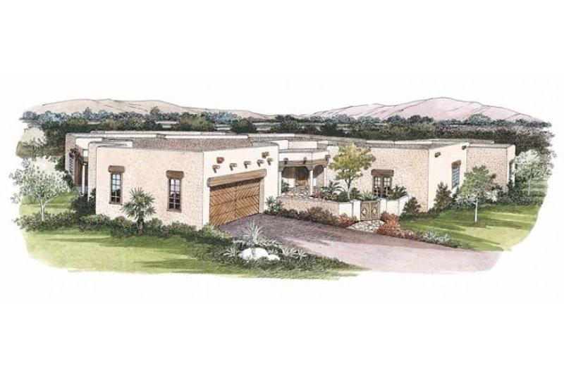 Dream House Plan - Adobe / Southwestern Exterior - Front Elevation Plan #72-338