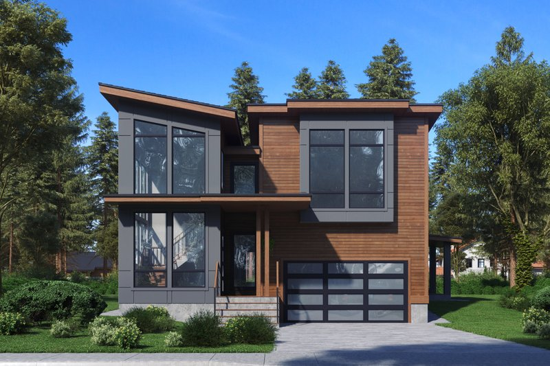 Contemporary Exterior - Front Elevation Plan #1066-81