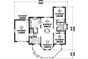 Country Style House Plan - 2 Beds 1 Baths 1146 Sq/Ft Plan #25-4652 Floor Plan - Main Floor
