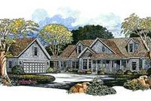 House Blueprint - Traditional Exterior - Front Elevation Plan #72-154