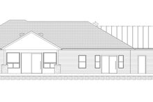 Ranch Exterior - Rear Elevation Plan #1077-4