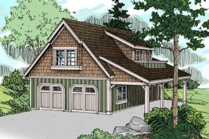 Craftsman Exterior - Front Elevation Plan #124-657