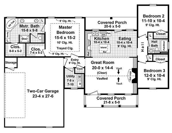 Traditional Floor Plan - Main Floor Plan Plan #21-343