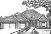 Traditional Style House Plan - 3 Beds 2.5 Baths 2022 Sq/Ft Plan #310-410 Exterior - Front Elevation