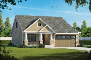 Cottage Exterior - Front Elevation Plan #20-2349