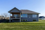 Ranch Style House Plan - 2 Beds 2 Baths 1703 Sq/Ft Plan #70-1458 Exterior - Rear Elevation