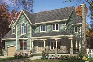 Country Exterior - Front Elevation Plan #138-299