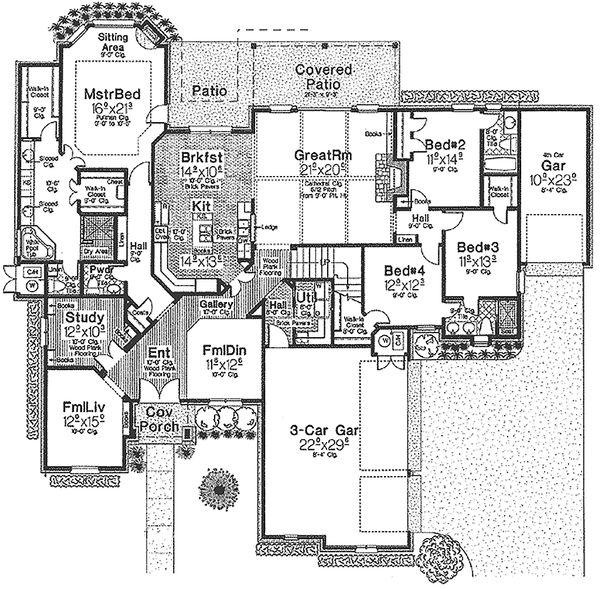 European Floor Plan - Main Floor Plan Plan #310-325