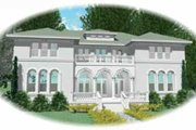 European Style House Plan - 5 Beds 3.5 Baths 5908 Sq/Ft Plan #81-411 Exterior - Front Elevation