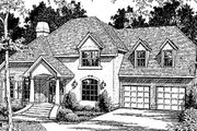 European Style House Plan - 3 Beds 2.5 Baths 2257 Sq/Ft Plan #41-157 Exterior - Front Elevation