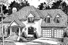 Home Plan Design - European Exterior - Front Elevation Plan #41-157