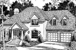 European Exterior - Front Elevation Plan #41-157